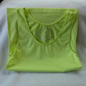 Neon Yellow Stretchy Tank Top by Cato